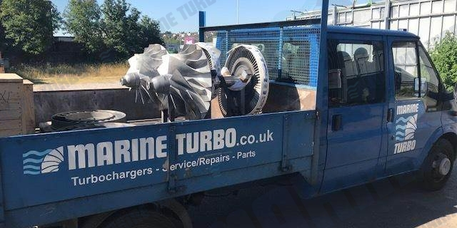 Birkenhead Liverpool team delivering main engine MAN NA rotor assemblies ahead of schedule back to the customer vessel.