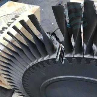Turbine blade in need of repair