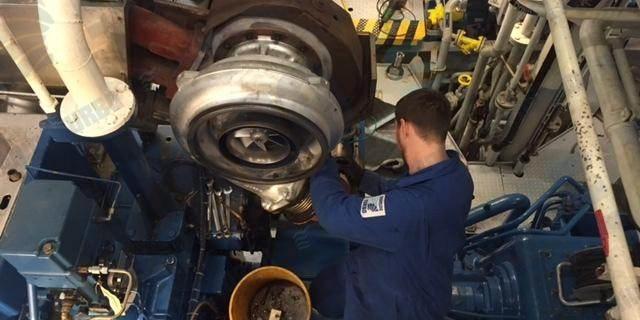Marine Turbo Employee Hard at Work