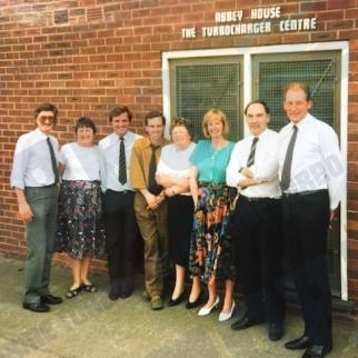 Marine Turbo Employees outside Abbey House - The Turbocharger Centre