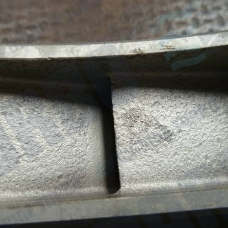 ABB Nozzle ring showing signs of combustion product erosion