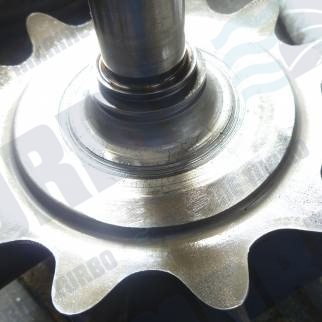 ABB TPS turbine side wheel friction heat fatigue cracks possibly from hfo carbon build up