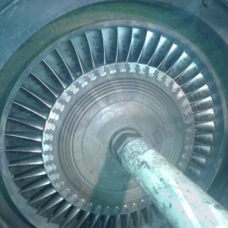 MET 66 refitting turbine rotor with polished reconditioned turbine blades